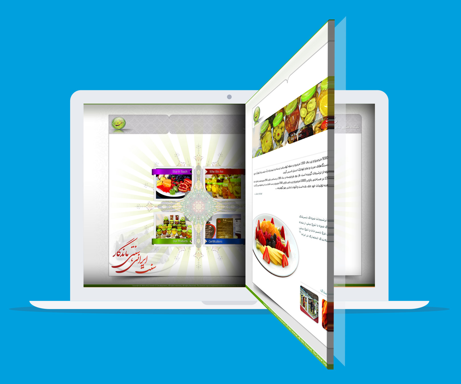 Sonat Food Industrial amazing landing page